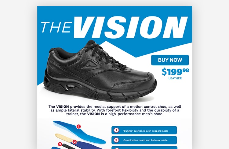Landing Page Example Ascent Footwear