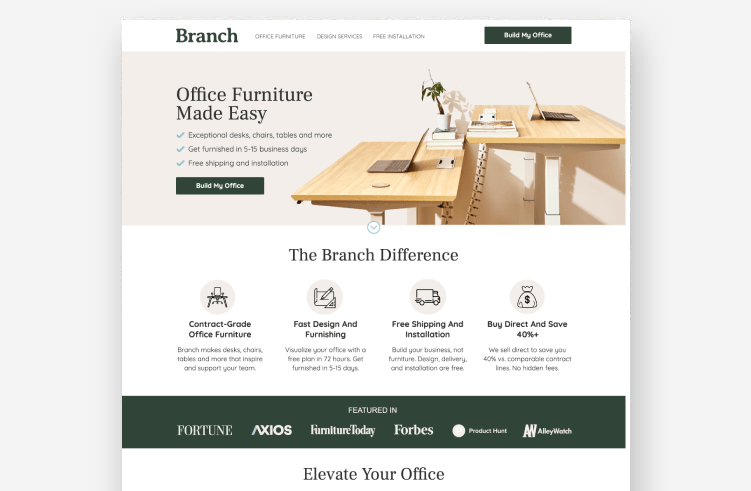 Best Landing Page Examples: Western Rise