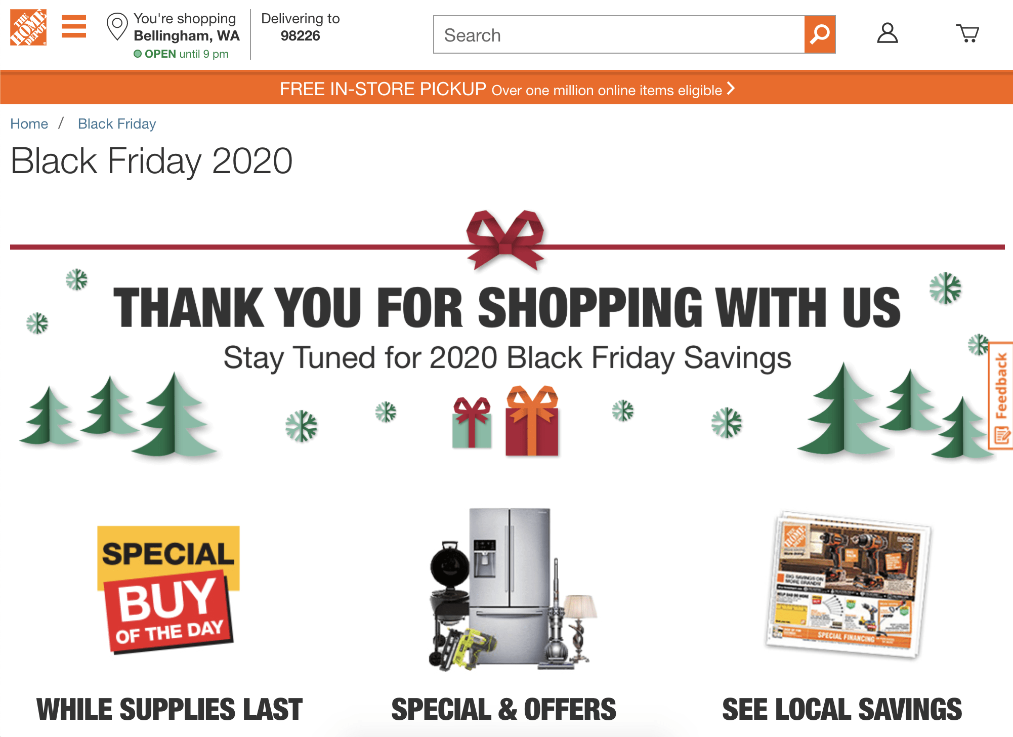Home Depot is already starting to tease their Black Friday sales