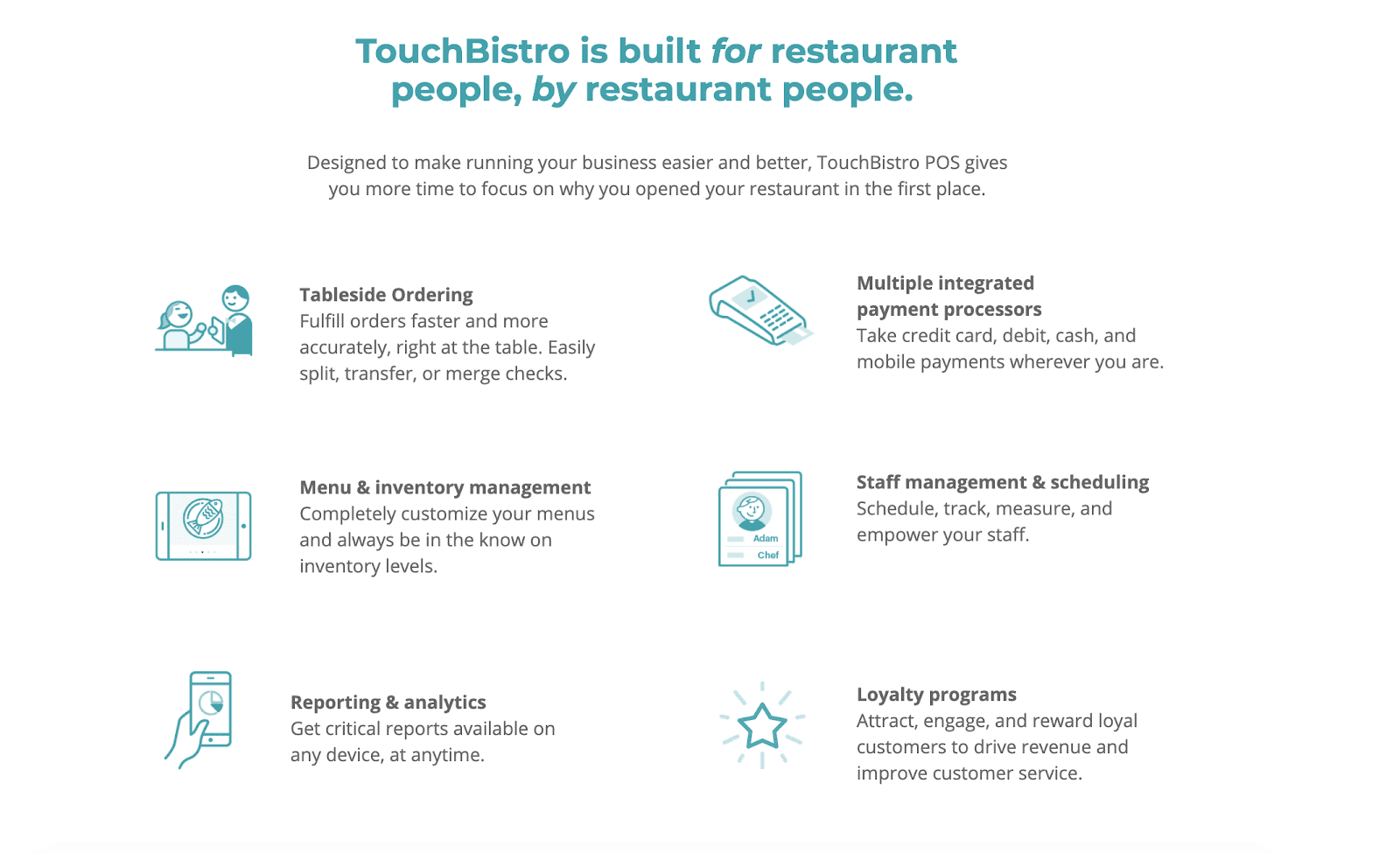 Best Landing Page Examples: TouchBistro