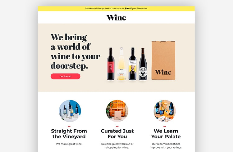 Smart Traffic Landing Page Variant - Winc