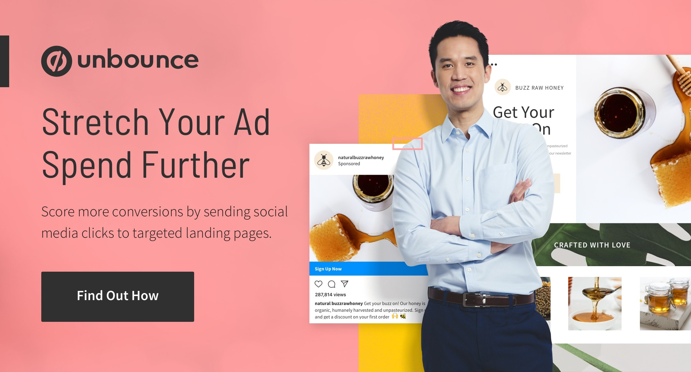 Landing pages for social media campaigns