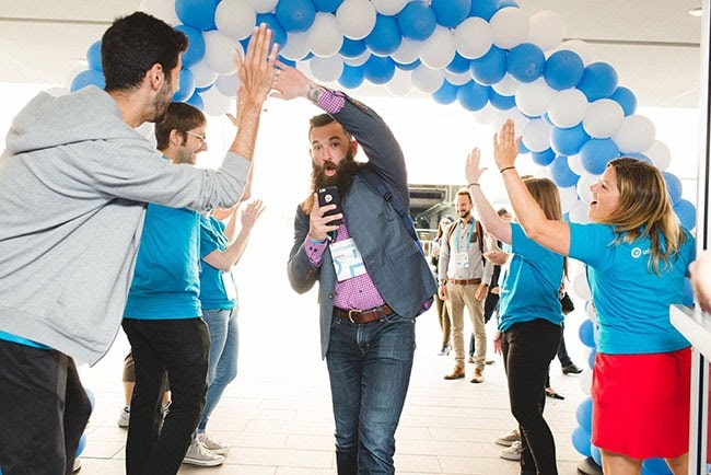 High-fives at CTAConf.