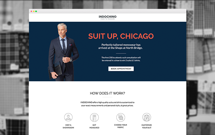 Chicago landing page example