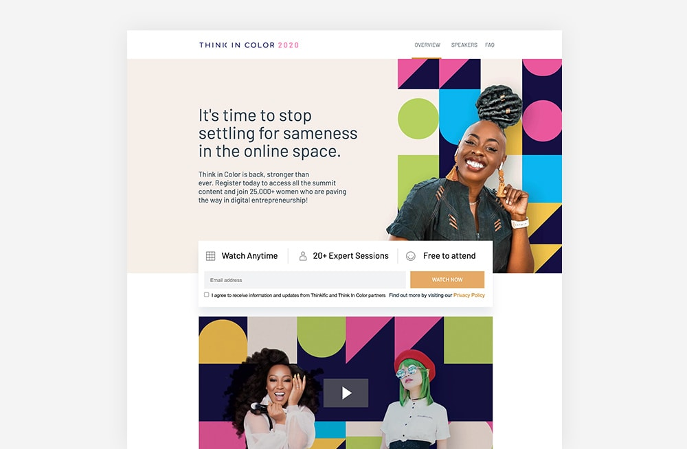 Event Landing Page Examples - Thinkific